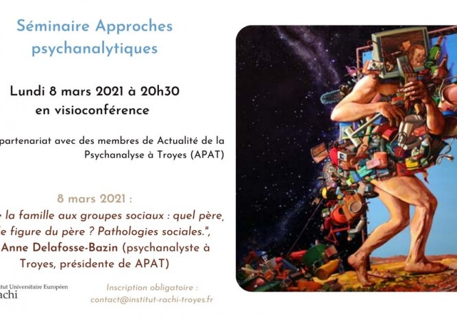 Visioconférence : séminaire Approches psychanalytiques