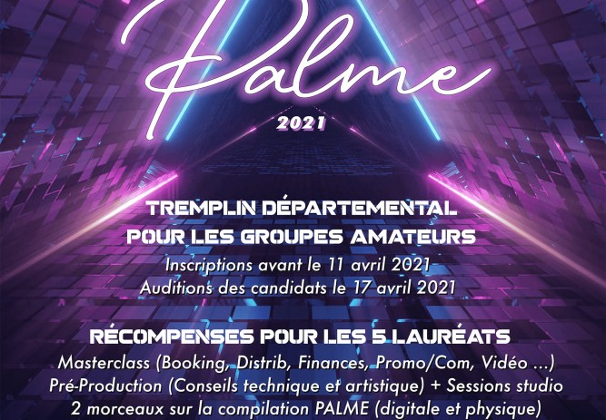Inscriptions Tremplin PALME 2021